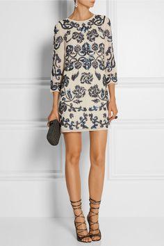 Needle & Thread|Empress sequin-embellished crepe mini dress|NET-A-PORTER.COM
