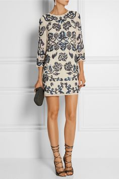 Needle & Thread | Empress sequin-embellished crepe mini dress | NET-A-PORTER.COM