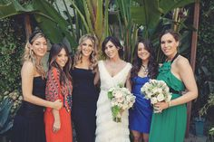 more mismatched bridesmaid dresses.