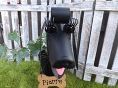 Personalized Black Poodle Dog Garden by IngridsSecretGarden, $45.00