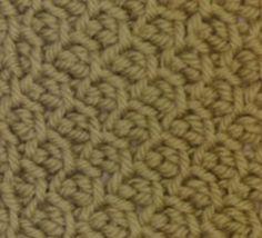 Puntada de la Semana: Honeycomb ganchillo tunecino | N Cadenas WiPS '