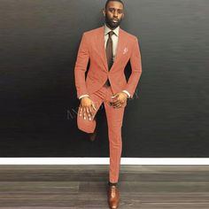 The Best Man Dress Suit is exactly how style is defined. Look your best at the wedding or party in this men's 2-piece suit. This handsome suit is styled with a fitted single-button jacket and slim fit pants. An elegant and classy look that is perfect for the modern man. Fashionably styled to make a strong fashion statement. Get it now and access free shipping for items going to most countries. The Best Man Dress Suit features:- An amazing dress suit for men that clearly stamps its authority on Young Mens Suits, Mens Casual Suits, Dress Suits For Men, Mens Fashion Suits, Men Dress, Men's Fashion, Cool Tuxedos, Affordable Suits, Orange Suit