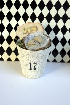 Nest and Eggs in Whitewashed Peat Pot by kathycreativehome on Etsy  $8