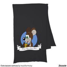 Cute mouse cartoon scarf