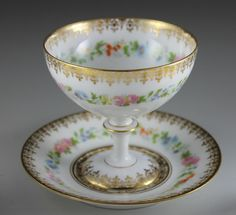Charles Ahrenfeldt, Limoges Porcelian (France)   -  Punch Cup  and Under Plate  (1066x973)