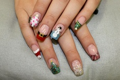 merry christmas nails...  love it