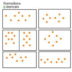 Dancer formations for 8 dancers