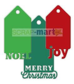 Impression Obsession Christmas Tags