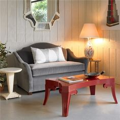 Bunny Williams Home Pagoda Red Coffee Table found on Layla Grayce #laylagrayce #orange #red #interiordesign