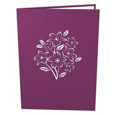 Floral Bouquet Purple Pop Up Mother's Day Card popup card cover - Lovepop