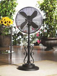 Deco Breeze Ebony Outdoor Fan with Misting Kit!  Perfect for cooling down on the porch and patio this summer!