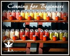 Maple Grove: Home Canning for Beginners
