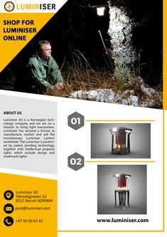 Are you looking for the best LED camping lights for tents? Luminiser is the best among all lantern lights for hassle-free camping without relying on batteries. Lighting Products, Cool Lighting, Norway, Electronics, Consumer Electronics