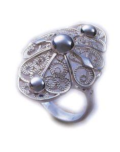 Silver filigree ring,silver 0,925. Srebrny pierścionek filigranowy.