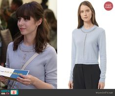Zelda s blue chain detail sweater on A to Z. Outfit Details  http   2850742c3