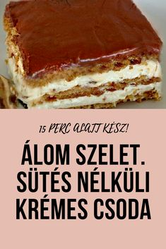 Fenséges sütemény, amivel alig van munka… Csak győzd kivárni amíg lehűl! Smoothie Fruit, Good Food, Yummy Food, Kaja, Creative Cakes, Cakes And More, Cake Recipes, Bakery, Easy Meals