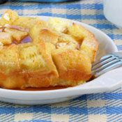 Again, I would have to start with a loaf of gluten free bread and go from there...French Toast Casserole Recipe at Cooking.com
