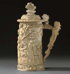 Christie's Large Image Beer Cellar, German Beer Steins, Shell, Saltwater Tank, Jade Stone, Vase, Wine And Beer, Salt And Water, Sculpture Art