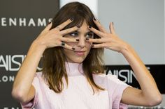 alexastyle:  Alexa Chung attends a photocall to launch her Alexa Manicure collection with Nails Inc at Debenhams on August 14, 2014 in London, England.
