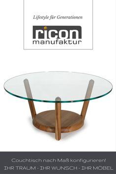 WOOD LOVE HOME Stylische Couchtische Aus Massivholz Und Glas Findest Du Bei  Ricon Manufaktur