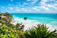 tulum - Scenic views in Cancun Mexico.
