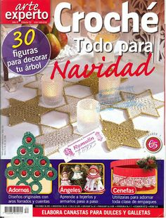 Christmas Crochet - Various - Chloe Taylor - Picasa Web Albums Christmas Crochet Patterns, Crochet Christmas Ornaments, Holiday Crochet, Crochet Home, Knitting Magazine, Crochet Magazine, Crochet Cross, Crochet Chart, Christmas Books