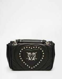 Love Moschino Quilted Bag with Studded Heart