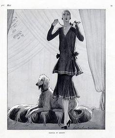 Martial et Armand 1926 Fashion Illustration Lee Creelman Erickson, Sighthound, Greyhound