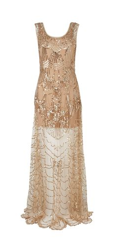 Inspired by the Greate Gastby - Cinderella Beaded Dress: £250, available from Phase Eight