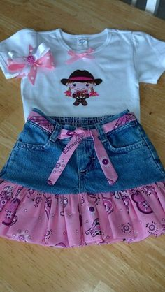 Hey, I found this really awesome Etsy listing at https://www.etsy.com/listing/166006974/girls-pink-bandana-and-denim-cowgirl-2