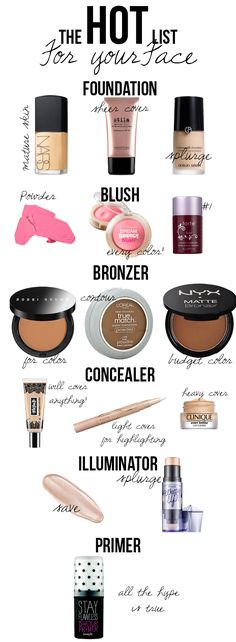 Makeup products to try!