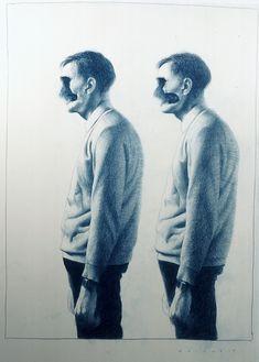 "Gottfried Helnwein ""Boys"" (1993, colored pencil on paper, 89 x 63 cm)"