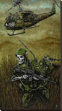 Stretched Canvas Print: 1st Air Cav by David Lozeau : 35x20in