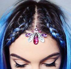 Jewels make up Gem Makeup, Hair Makeup, Edm, Coachella, Video Gems, Festival Face Gems, Glitter Unicorn, Rave Hair, Rhinestone Makeup