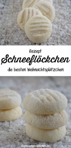 Schneeflöckchen - feine Plätzchen - Schnin's Kitchen Hornear copos de nieve para Navidad: una gran receta de galletas navideñas tiernas y mantecosas para el café de Adviento. Easy Cookie Recipes, Cupcake Recipes, Baking Recipes, Great Recipes, Kitchen Recipes, Yummy Recipes, Dinner Recipes, Snowflake Christmas Cookies, Best Christmas Cookies