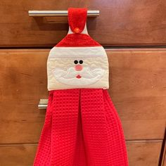 Hostess Gift, Kitchen, Bathroom or Holiday Decor Kitchen Towels Hanging, Christmas Kitchen Towels, Kitchen Hand Towels, Hanging Towels, Dish Towel Crafts, Dish Towels, Tea Towels, Crochet Towel Topper, Sewing Crafts