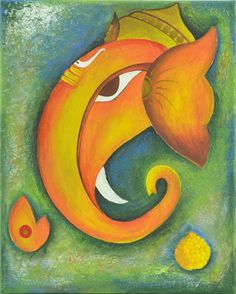 If you accept added than idols of Ganesha, you are apprenticed to airing into almanac books! Shekhar, whose lifetime Spiritual Paintings, Lord Ganesha Paintings, Lord Shiva Painting, Ganesha Art, Kerala Mural Painting, Art Assignments, Easy Paintings, Canvas Paintings, Cool Art Drawings