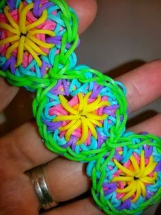 Rainbow Loom Patterns: Kaleidoscope Rainbow Loom Pattern (with youtube tutorial)