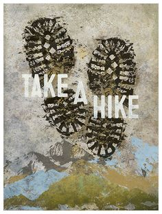 GreenBox Art 'Wheatpaste Take A Hike' by Fancy That Design House & Co Graphic Art on Canvas Size: Canvas Artwork, Canvas Wall Art, Playroom Art, Baby Wall Art, Typography Art, Framed Art Prints, New Art, Graphic Art, Forest Bedroom