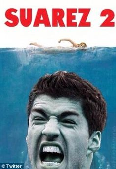 Film references: Instantly memes were comparing the Uruguayan player to the shark from Jaws