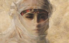 Theodore Ralli Veiled Woman, (1880)