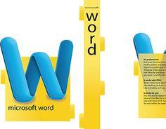 Microsoft Word Box Design, typograpy, design, graphic design