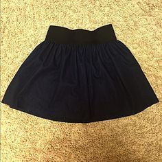 Faux denim high-waisted skirt Fits perfect to size. Has stretchy elastic, too black band for comfort. Charlotte Russe Skirts Mini