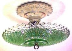 Hobnail Ceiling light Vintage Light Fixtures, Vintage Lighting, Vintage Designs, Retro Vintage, Vintage Glassware, Milk Glass, Depression, Lamps, Decorating Ideas