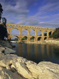 Pont du Gard, Roman aqueduct, UNESCO World Heritage Site, near Avignon… Provence France, Roman, High Clouds, Pont Du Gard, Pretty Landscapes, Tours France, Europe, Over The River, Natural Park
