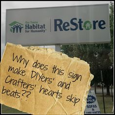 What is a Habitat for Humanity Restore? The ultimate playground for DIY and Crafters! Visit ours at Habitat for Humanity of Greater Dayton! Habitat Restore, Habitat For Humanity Restore, Habitat Humanity, Serendipity, Good To Know, Decorating Tips, Habitats, Playground, Fun Crafts