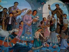 Leo Politi, Blessing of the Animals mural. He wrote and illustrated about 20 children's books, with an early emphasis on the diverse population here in California.