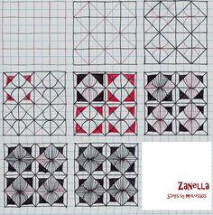 Life Imitates Doodles: My tangle pattern: Zanella