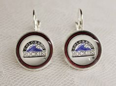 Colorado Rockies Earrings made from Baseball Trading Cards Great for Game Day #ColoradoRockies