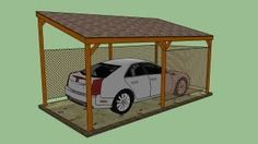 how to build a carport cheap - YouTube